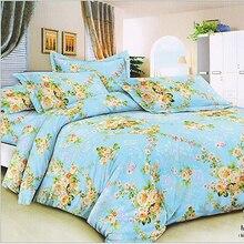 235cm 50cm piece 100 cotton blue flower printed cotton fabric for Baby Bedding Textile Patchwork Quilt