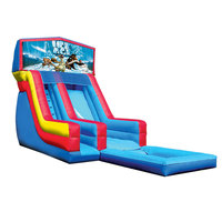 inflatable water slide pool kids inflatable rental playground slide with inflatable bouncer air blower