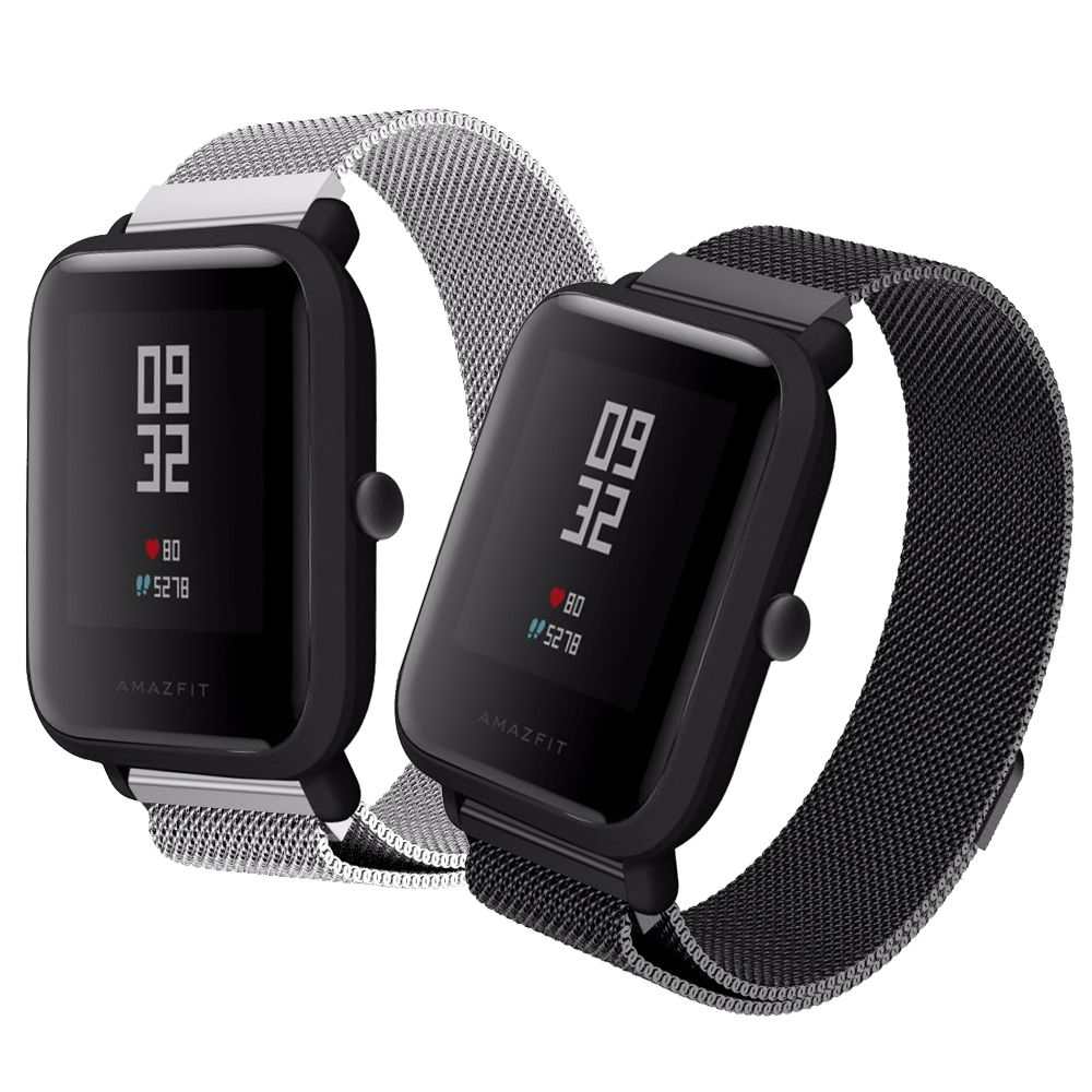 20mm Metal Milanese Loop Band For Xiaomi Huami Amazfit Bip BIT Lite Youth Wrist Strap Bracelet For Amazfit Bip Smart Watchband