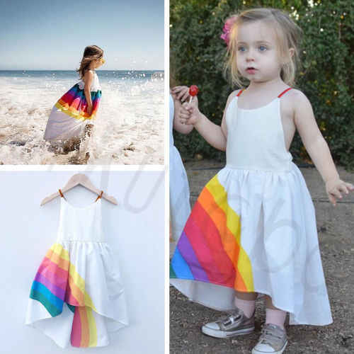 פעוט תינוקת בגדי נסיכת קשת שמלה ללא שרוולים מסיבת שמלות
