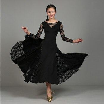 d5ddd34bad Blanco estándar Ballroom Dance Dresses mujer 2018 alta calidad por encargo  etapa adultos vals competencia de baile vestido