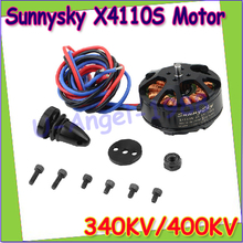 Free shipping 4 set lot Sunnysky X4110S 340KV 400KV Outrunner Brushless Motor for Multi rotor