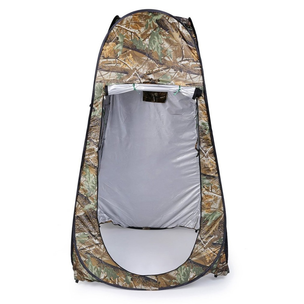 Outdoor Moving Shower Toilet Tent Privacy Changing Bath Shelter Fitting Room Waterproof Pop Up 180T Tent With Bag Camouflage