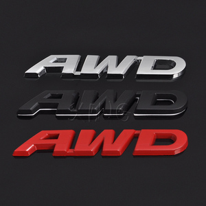 Metal Car Sticker Emblem Auto Badge Decal For AWD Logo Mercedes BMW Audi Ford VW Nissan Toyota For Honda Land Rover Accessories(China)