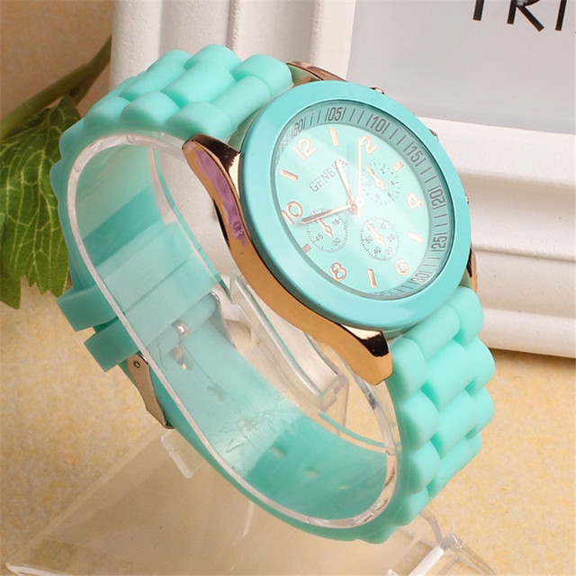 MEIBO Geneva Casual Watch Women Dress 15 Colors Silicone Unisex Quartz Wristwatch Fashion Sports Watches Saat Relojes Mujer 2017