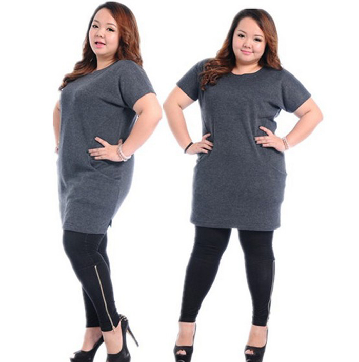 2014plus Size Brand Designer Dress Stars Style Fat Women Cashmere Dress Fashion Short Sleeve