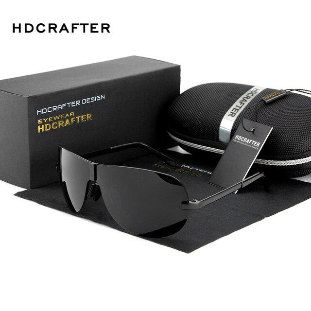 HDCRAFTER Retro Rimless Men polarized sunglasses 2016 Brand designer male Sun glasses Driving mirror fishing goggle Sunglasses
