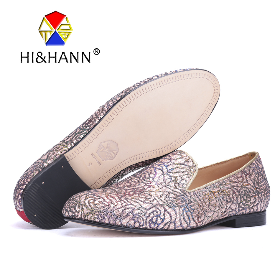 New arrival Luxurious and Colorful flowers design Men handmade loafers British style Wedding and Party men smoking slippers