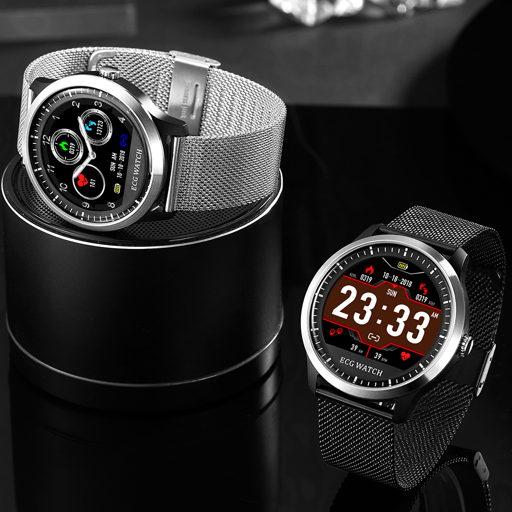 Makibes BR4 ECG PPG smart watch Men with electrocardiogram heart rate blood pressure smart Band Fitness Tracker Double Eleven