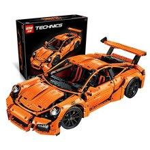 LEPIN 20001 Technic Series 911 GT3RS Race Car Model Building Kits 2704Pcs Blocks Bricks Toy Compatible With Decool 3368