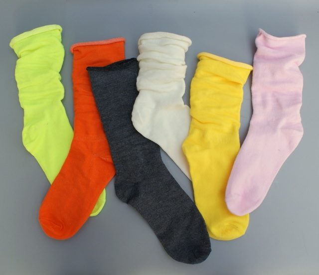 ebfbd4c8be6 2 pairs neon women crew Socks Girls retro sock fluorescence skateboard candy  pure colors