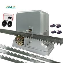 Automatic rolling sliding gate opener drive gate for 3600lbs 1800kg door gate with 5m steel rack 1 sonser 1lamp AC220V/110V