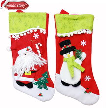 Christmas Stocking Snowman Bag