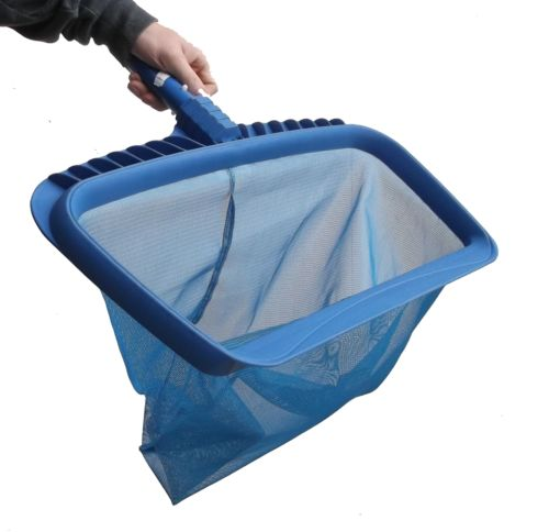 Professional heavy duty strong deep bag pool rake blue for Fish cleaning gloves
