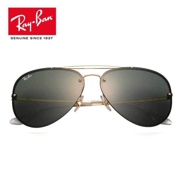 af234a25d16f RayBan Original Blaze Flat Lens Pilot Aviator Sunglasses RB3584N-9050/71