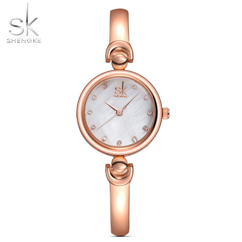 Shengke Reloj Mujer Fashion Armband Armbandsur Märke Kvinnlig Geneva - Damklockor - Foto 4