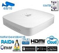 Original English Firmware DAHUA NVR4104 NVR4108 NVR4116 Smart 1U Mini 1080P 4ch 8ch 16ch With Onvif