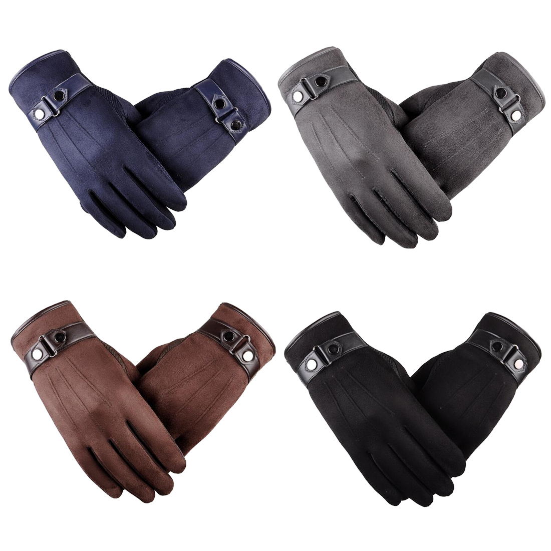 Autumn Winter Full Fingers Gloves Men Thicken Warm Cashmere Thermal Mittens Male Touching Screen Gloves For Smart Phone/Ipad