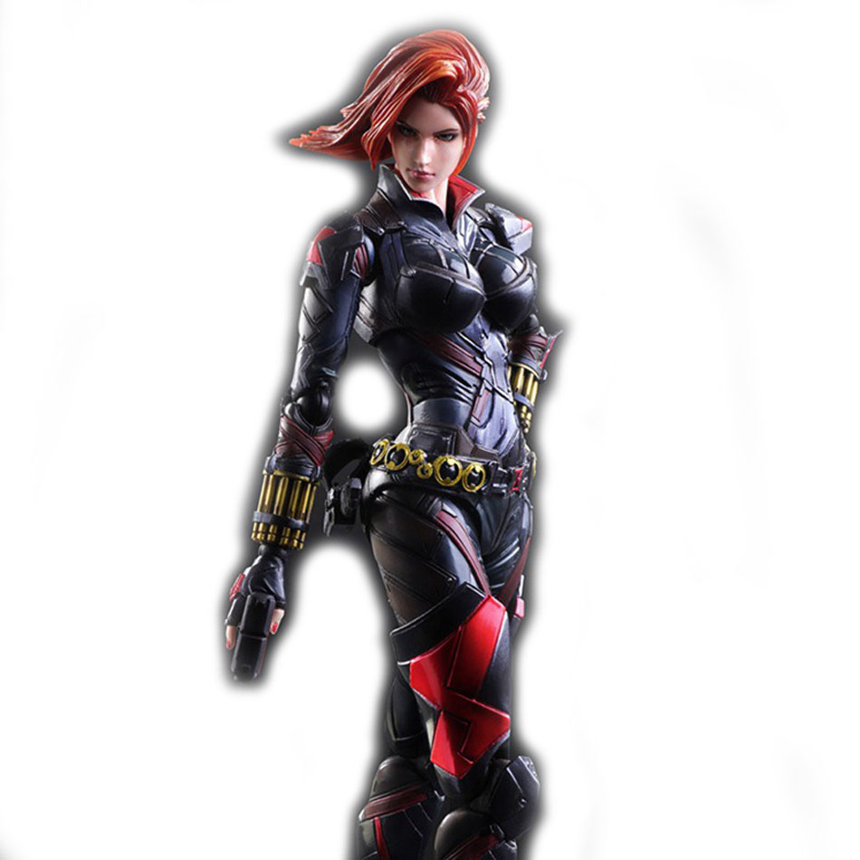 Black widow 27cm 1pcs pvc figures play arts kai the avenger marvel...