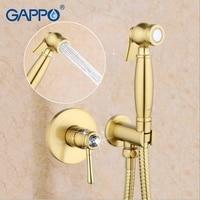 Gappo New Gold Crystal Muslim Bidet Shower Toilet Sprayer Bathroom Bidet Faucet Restroom Mixer Tap Washer