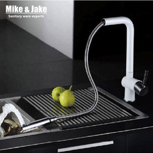 2015 pull out kitchen faucet white crane spray lacquer kitchen faucet german quakity kitchen tap mixer tap torneira cozinha
