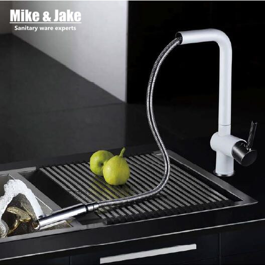 2015 Pull Out Kitchen Faucet White Crane Spray Lacquer Kitchen Faucet German  Quakity Kitchen Tap Mixer Tap Torneira Cozinha In Kitchen Faucets From Home  ...