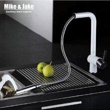 2015 вытащить кухонный кран белый журавль спрей лак смеситель для кухни немецкий quakity кухня смеситель torneira Cozinha