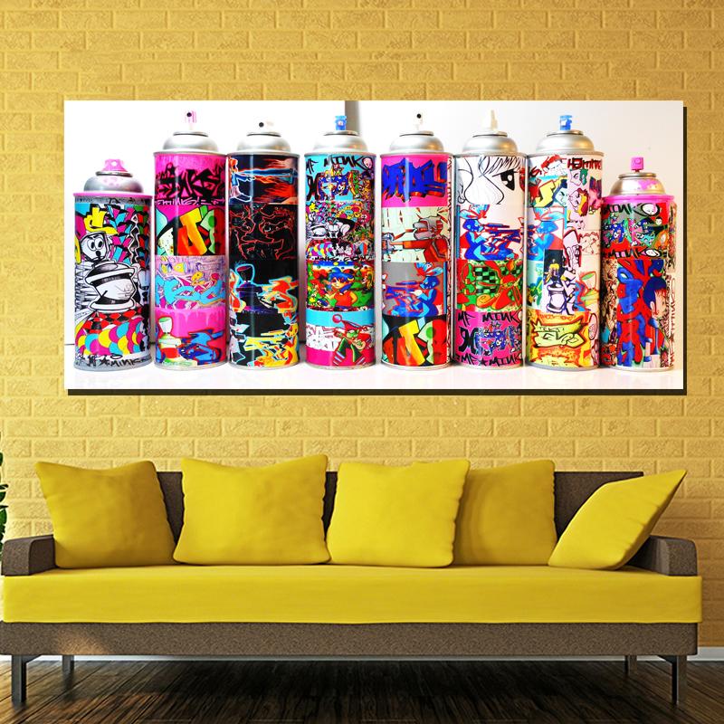 Graffiti Art Spray Pictures Modern Wall Art Canvas Printed Painting ...