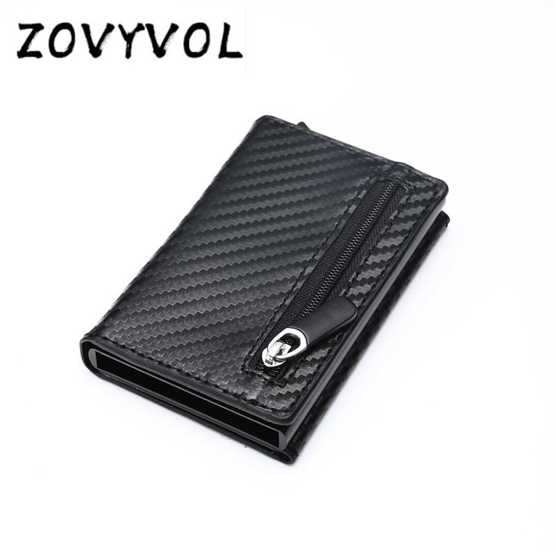 ZOVYVOL RFID Men Wallet Rfid Mini Wallet Small Slim Metal Male Purse Thin Walet Money Bag Luxury Vallet cartera hombre moda 2019 in Wallets from Luggage Bags