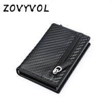 ZOVYVOL RFID Men Wallet Rfid Mini Small Slim Metal Male Purse Thin Walet Money Bag Luxury Vallet cartera hombre moda 2019