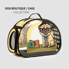 Transparent Printing Dog Carrier Bag Portable Cats Handbag Foldable Travel Puppy Carrying Shoulder Pet Bags