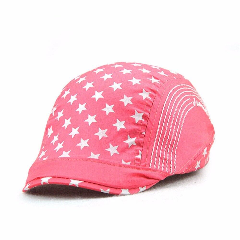 Fashion Stars Kids Beret Hats Duckbill Casquette Boina Buckle Visors Golf Driving Flat Detective Hat Casquette Newsboy Cap 2018