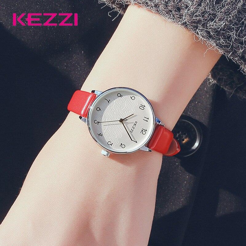 KEZZI Women Wrist Watch Charming Elegant Leather Band Ladies Waterproof Watches Clock Best Gift for Women Girls Watches часы default kezzi