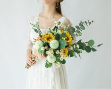 Waterfall  Wedding Flowers Bridal Bouquets Artificial Bouquet De Mariage Sunflower