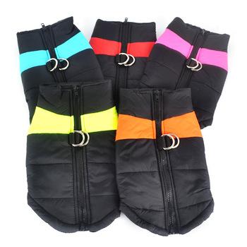 Wodoodporne ciepłe ubrania dla psów zimowe ubranka dla zwierzęcia domowego dla małych psów zimowe ubrania produkty dla zwierzaka domowego akcesoria duży płaszczyk dla psa kurtka kamizelka tanie i dobre opinie DCPET Poliester Zima Stałe