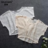 SHUCHAN New Fashion Crop Top Women Cotton See Through 2018 Summer Tops Sexy Sleeveless Tank T