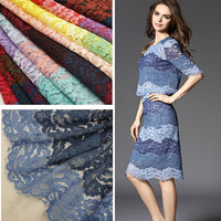 1meters Lot Lace Fabric Spell Color Wave Edge Eyelashes Openwork Embroidery Car Bone DIY Clothing Accessories