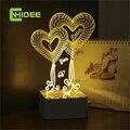 USB Lampara Luces Led Del Corazón Del Amor 3d Táctil Lámpara de Mesa para La Decoración de La Boda de Hadas Luces de La Noche como Regalos de San Valentín