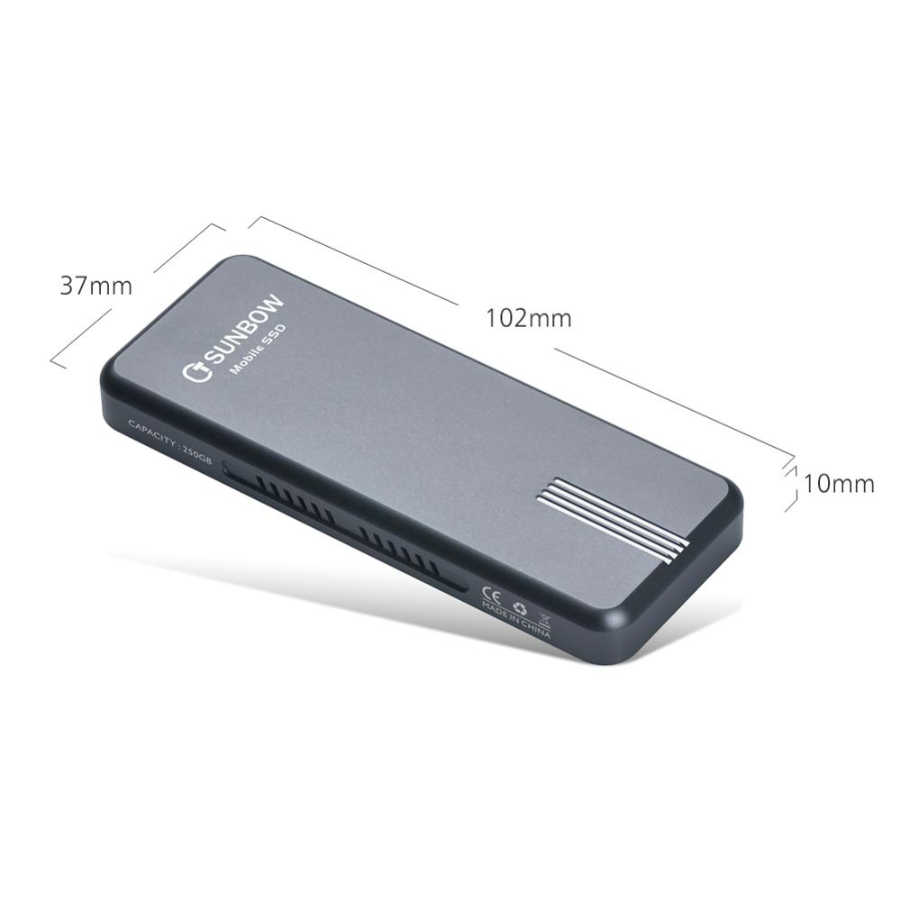 New Item Tcsunbow Lighting USB TYPE-C Portable 500GB SSD Hard Drive For Macbook Notebook Mobile Phone