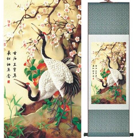 Flor de Ameixa Pintura de Rolagem Pássaros e Flores Pintura Home Office Decoração Chinesa Pintura Pássaros Pintura Ltw2017120206