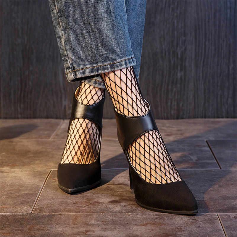 FEDONAS 2019 Yaz Yeni Marka Tasarım Zarif Sivri Burun Ince Topuklu Kadın yarım çizmeler Akın Pu Deri Pompaları parti ayakkabıları Kadın