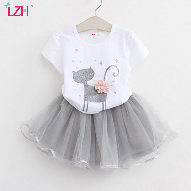 f921f76321c Kids Clothes For Girls Sport Suit 2019 Summer Girls Clothes T Shirts+Tutu  Skirt Toddler Girls Clothing Sets Children Clothing-in Clothing Sets from  Mother ...