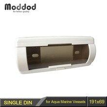Fascia para Embarcaciones Marinas Aqua 1 Din Radio Estéreo Marco de La Cara Con Cover Up Puerta Automática de CD de Bolsillo a prueba de Agua