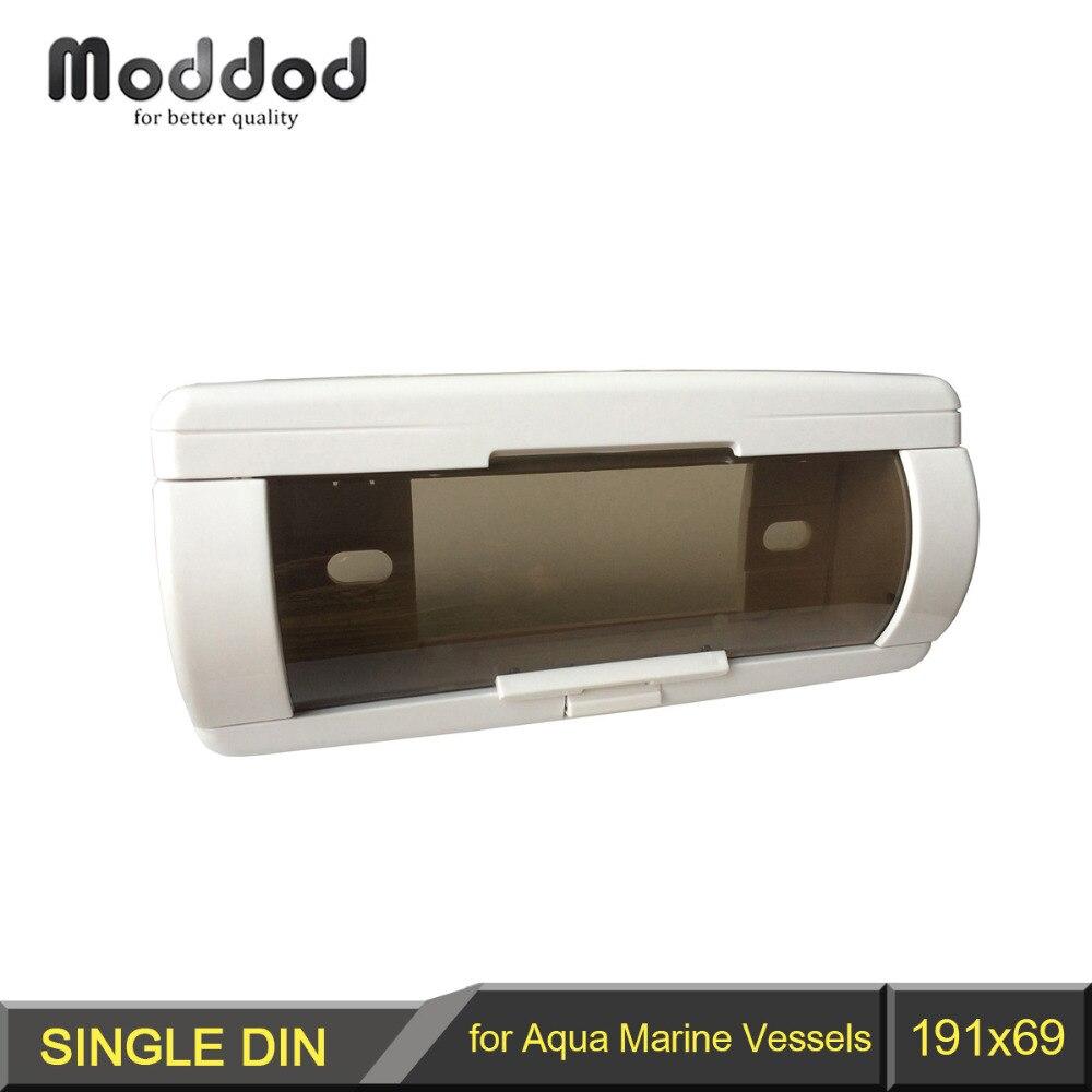 Radio Fascia für Aqua Marine Gefäße 1 Din Stereo Gesicht Rahmen Mit Abdeckung Up Automatische Tür CD Wasserdichte Tasche