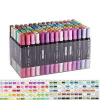 120 Colors Double Head Marker Sketch Markers Set Art Marker Oil Based Animation Colors Manga For Drawing With Box