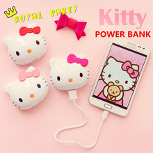 6500mAh Fashion Hello Kitty Power Bank External Universal Battery Charger Cute Cartoon Cat Powerbank For Iphone