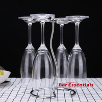 Wine Cup Wine Glass Holder Hanging Drinking Glasses Stemware Rack Under Cabinet Storage Organizer For Household