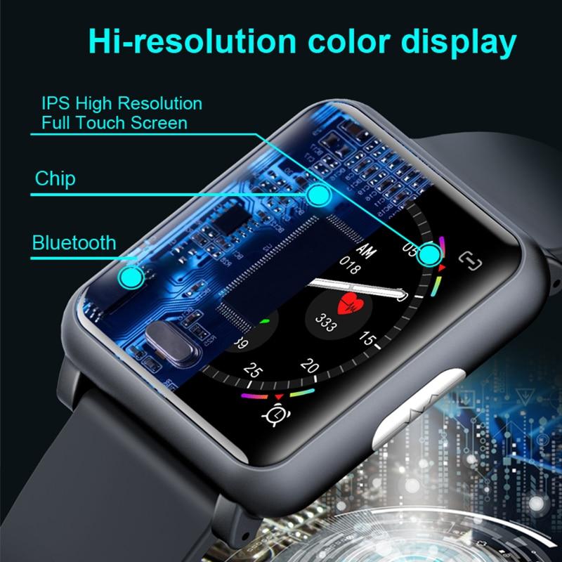 KINYO 2019 new blood pressure watch ecg ppg waterproof smart bracelet women men sleep tracker smart