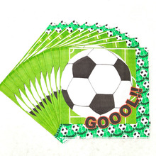 20pcs/set Football Theme Party Paper Disposable Napkin Tissue Soccer Kids Birthday Supplies Decorations