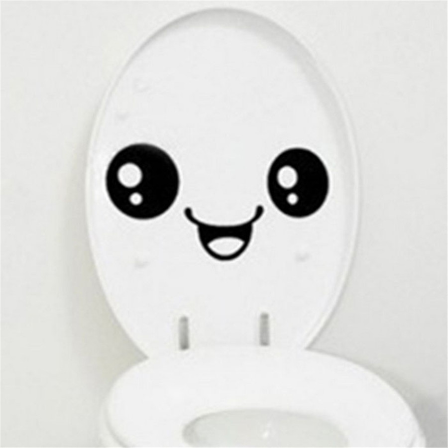 Wallpaper Sticker Toilet Toilet Stuck Lovely Smiling Face Free To Stick Notebook Stick Wallpapers For Living Room B#